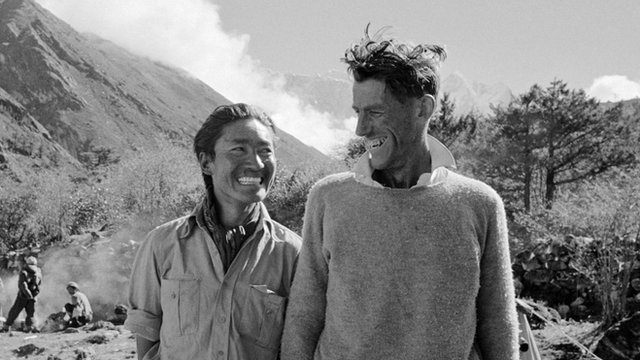 Peter Jackson took the first published photo of Edmund Hillary and Tenzing Norgay after the climb