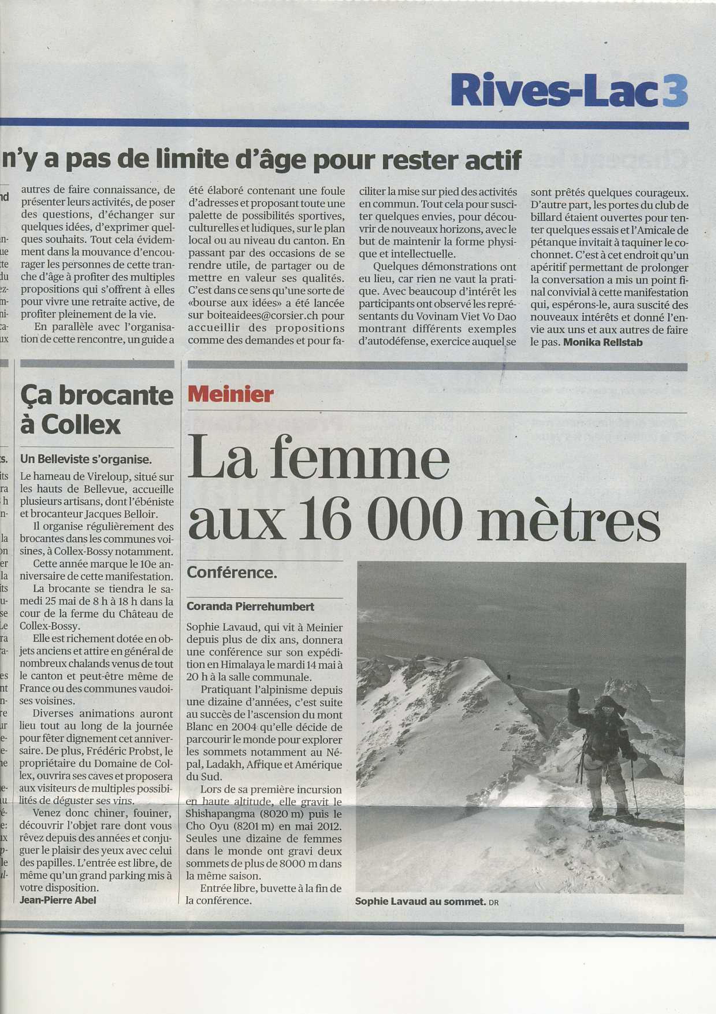Tribune de Genève - Rives-Lac 13mai13