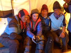 François Damilano et les Helpers tibétains